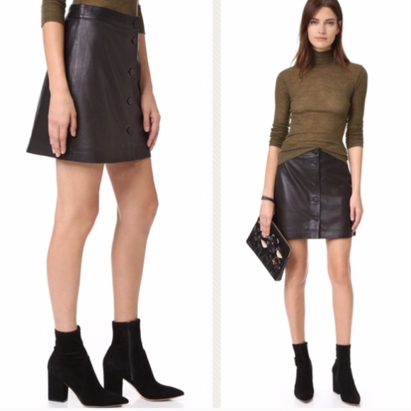 Madewell Dresses & Skirts - MADEWELL LEATHER SKIRT A LINE  BUTTONS   12